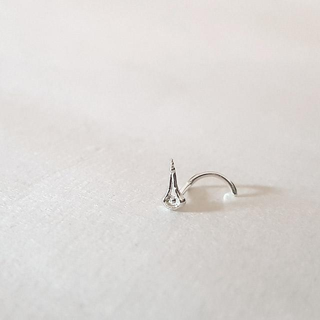 Angel Tears - Silver Nose Stud