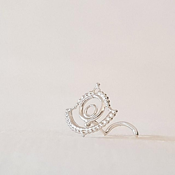 Silver nose stud 20g