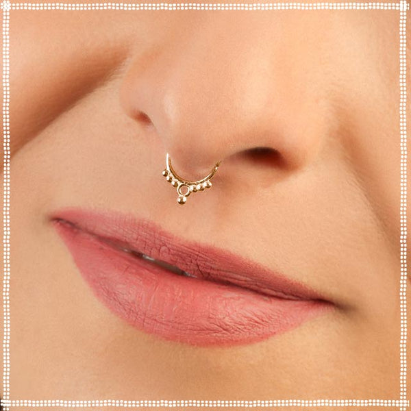 Gold Nose Hoop | patapatajewelry
