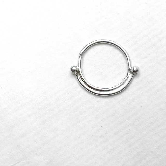 Bliss Silver Septum Piercing - patapatajewelry