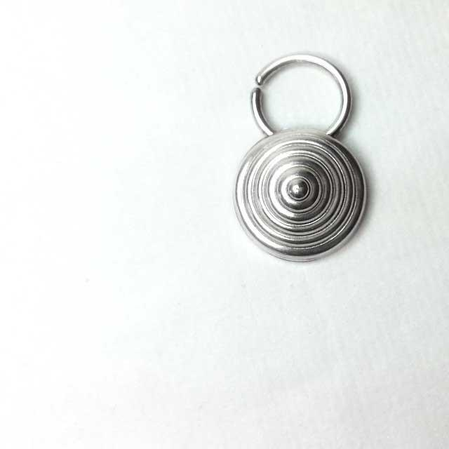 Tribal Industrial Silver Septum Ring