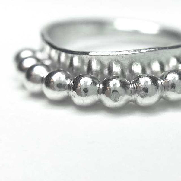 Raw Charm Silver Septum Ring - patapatajewelry