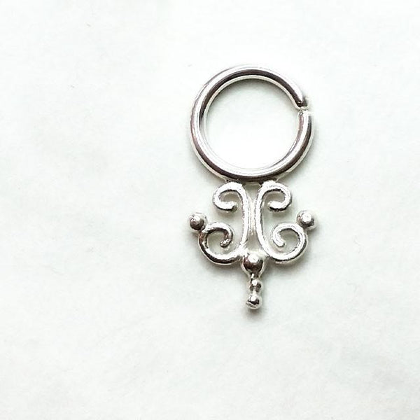 Voodoo Queen Silver Septum Ring
