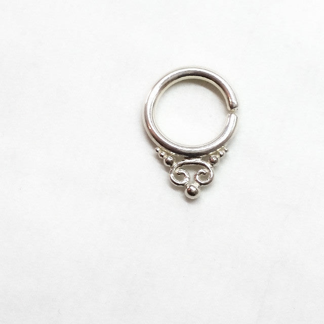 Moon Child Silver Septum Ring - patapatajewelry