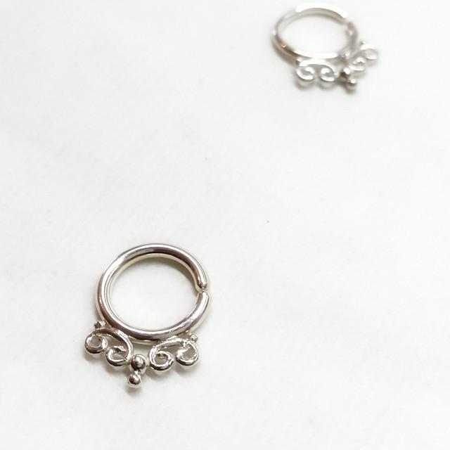 Seduction Silver Septum Ring - patapatajewelry