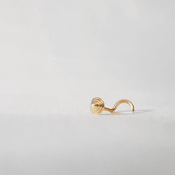small nose stud gold 20g
