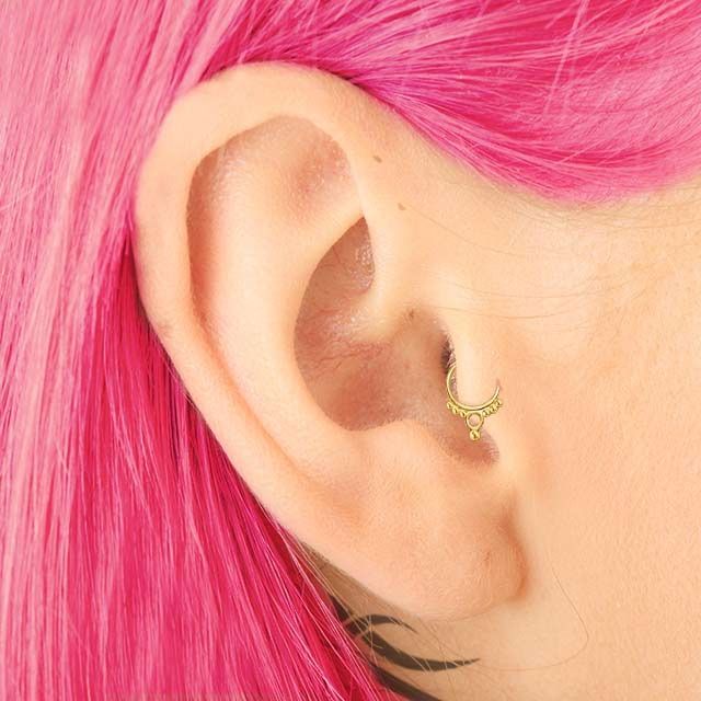 Tribal Beauty - 14k Gold Tragus Earring - patapatajewelry