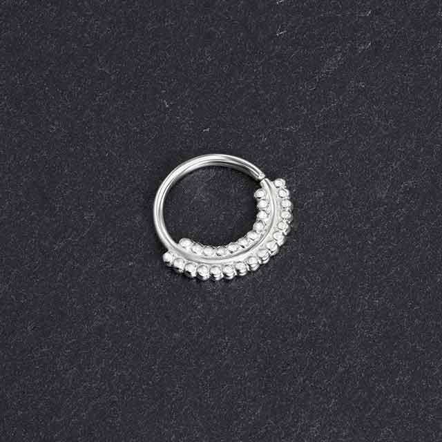 Indian Nose Ring - Cool Breeze Silver - PataPataJewelry