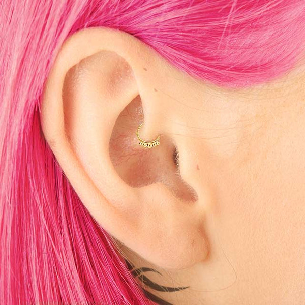 Urban Princess - 14k Gold Daith Earring - patapatajewelry