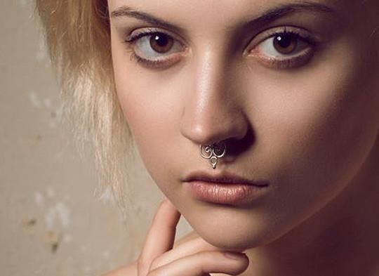 Possessed Silver Septum Ring - patapatajewelry