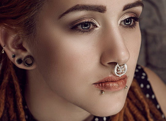 silver septum nose ring