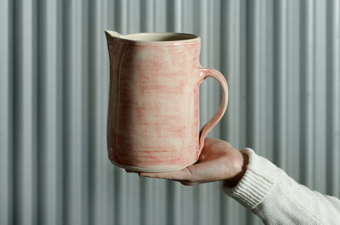 Large Pitcher Warm Grey Wash