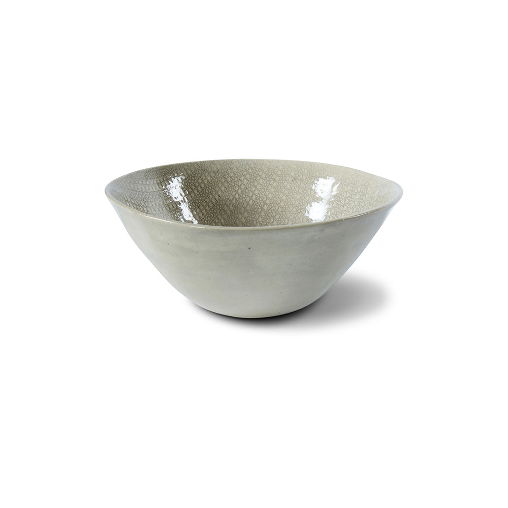 Pasta Bowl Warm Grey Lace