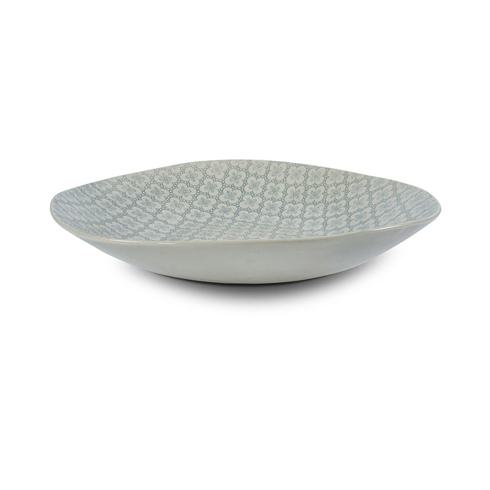 XL Deep Duck Egg Lace, Serving Dish - Wonki Ware Australia