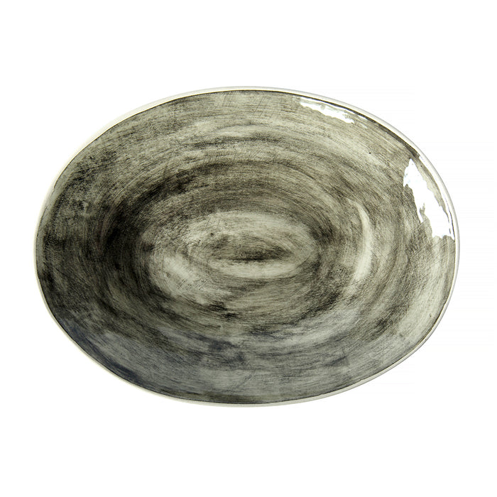 Pebble Oval Black Beach Sand, Serving Dish - Wonki Ware Australia