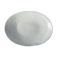Pebble Oval White Lace, Serving Dish - Wonki Ware Australia