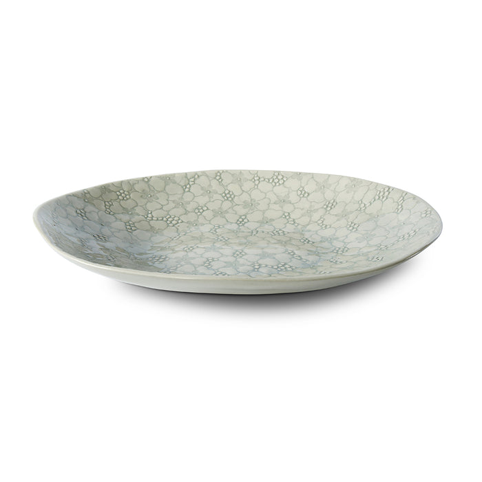 Pebble Oval Duck Egg Lace, Serving Dish - Wonki Ware Australia