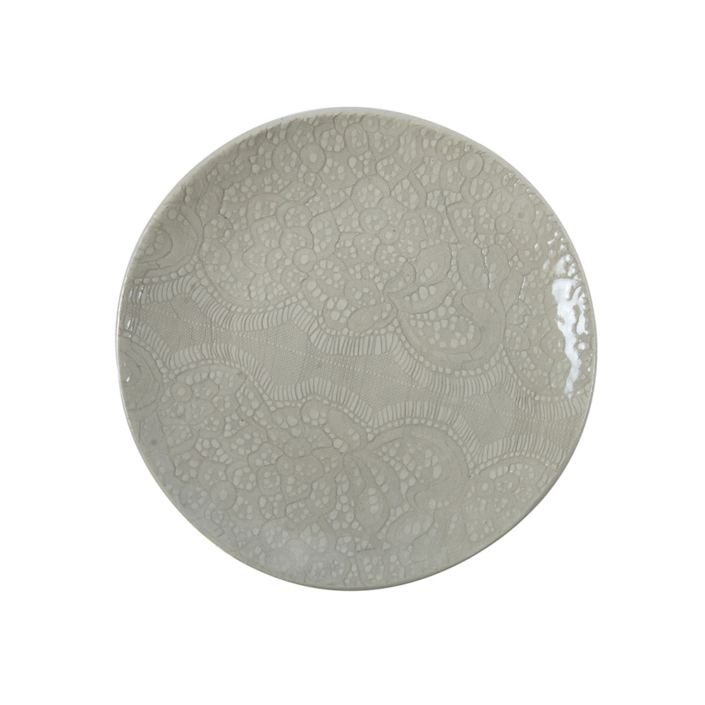 Dinner Plates Warm Grey Lace