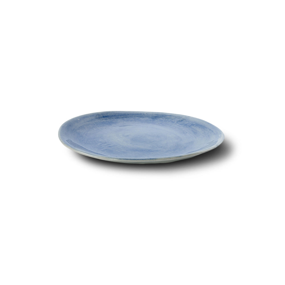 Entree Plate Blue Wash