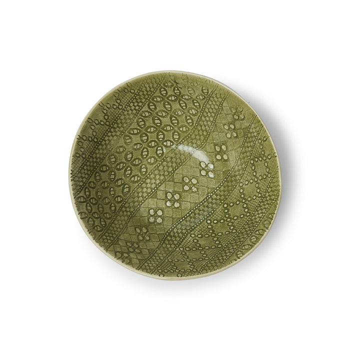 Pasta Bowl Dark Green Beach Sand