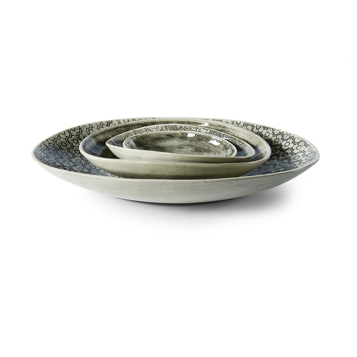 Etosha Black Wash, Serving Dish - Wonki Ware Australia