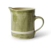 Large Pitcher Dark Green Beach Sand