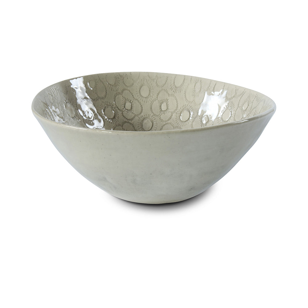 Soup Bowl Warm Grey Lace, Plates - Wonki Ware Australia