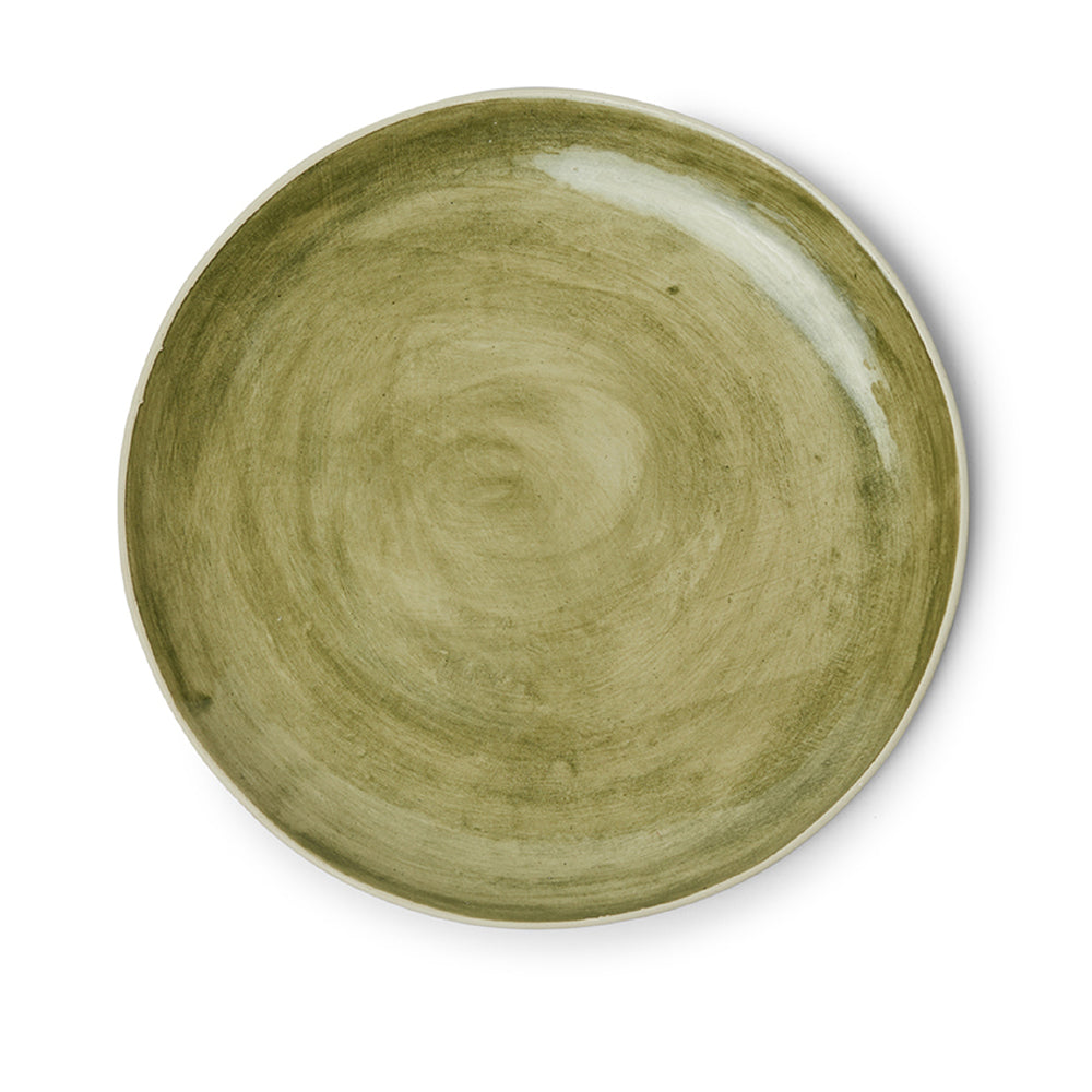 Dinner Plates Dark Green Beach Sand
