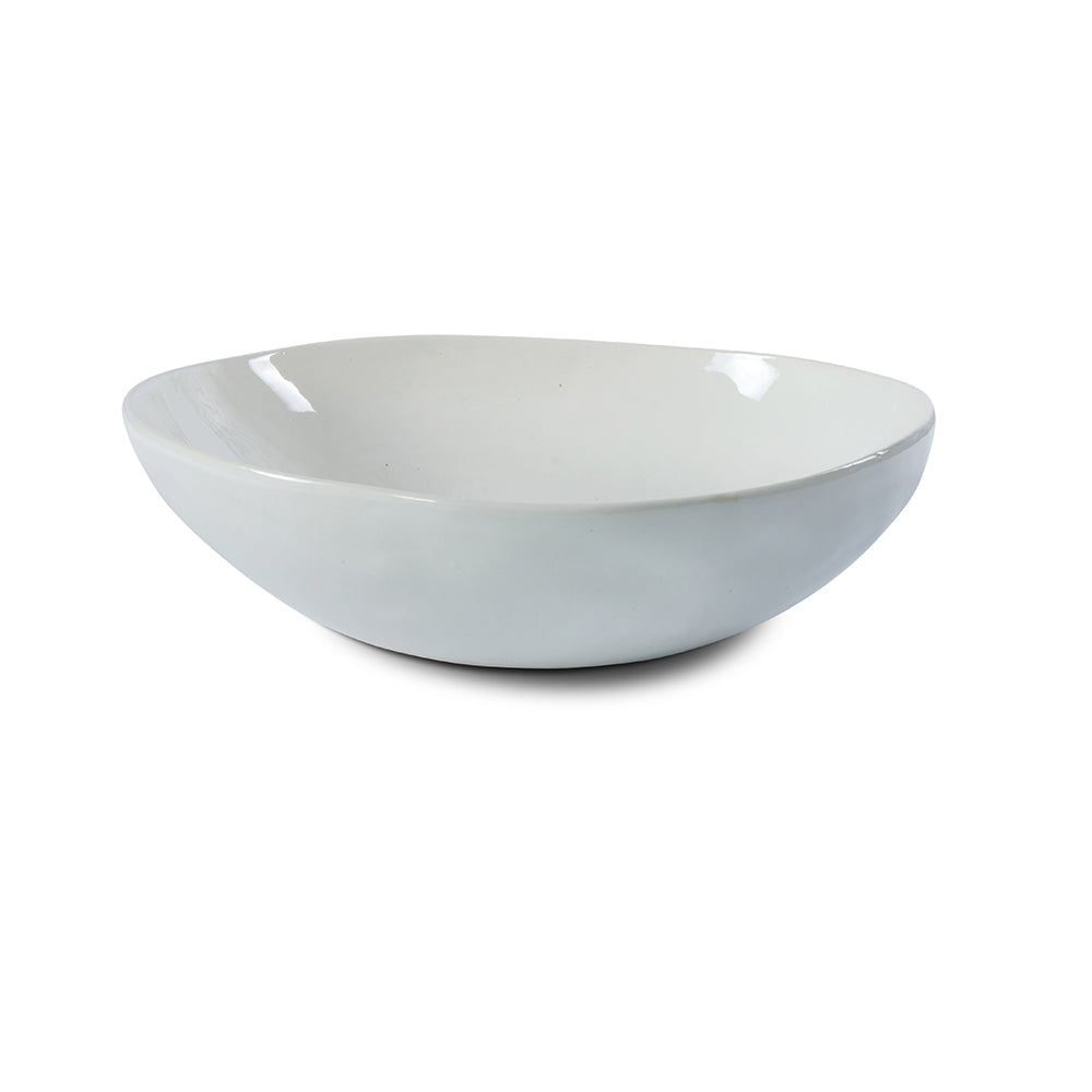 Pebble Salad Bowl Plain White, Bowls - Wonki Ware Australia
