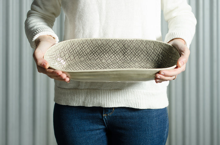 Bread Basket Warm Grey Lace