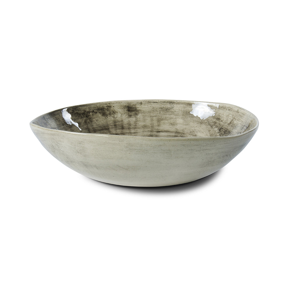 Pebble Salad Bowl Black Beach Sand, Bowls - Wonki Ware Australia