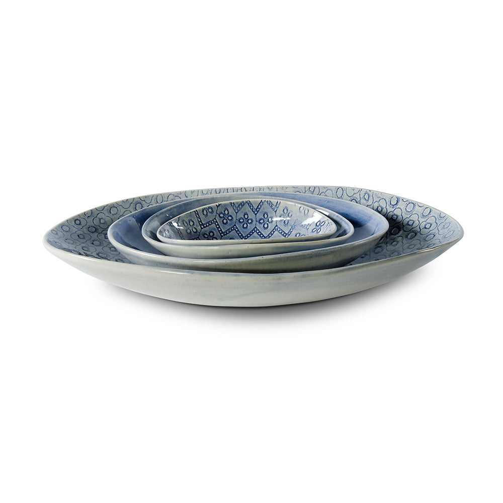 Etosha Blue Wash, Serving Dish - Wonki Ware Australia
