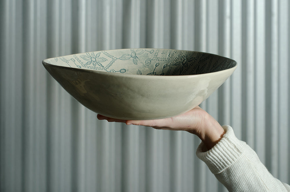 Salad Bowl White Lace