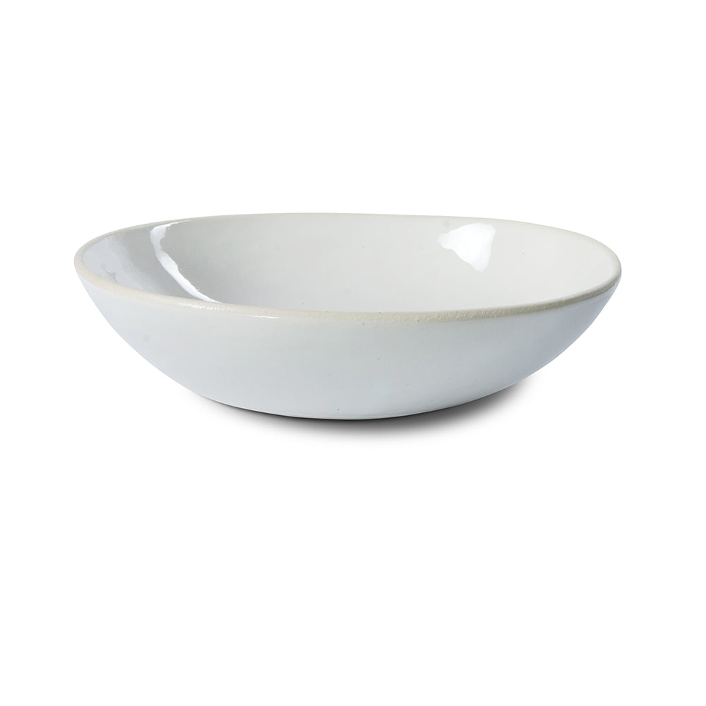 Pebble Salad Bowl White Beach Sand, Bowls - Wonki Ware Australia