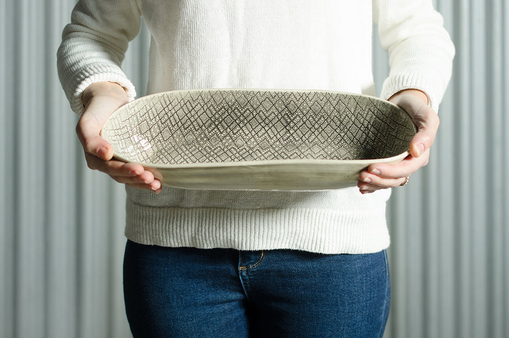 Bread Basket Plain White