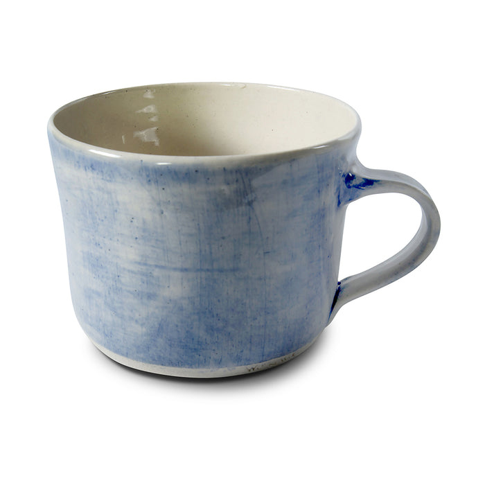 Squat Mug Blue Wash, Mugs - Wonki Ware Australia