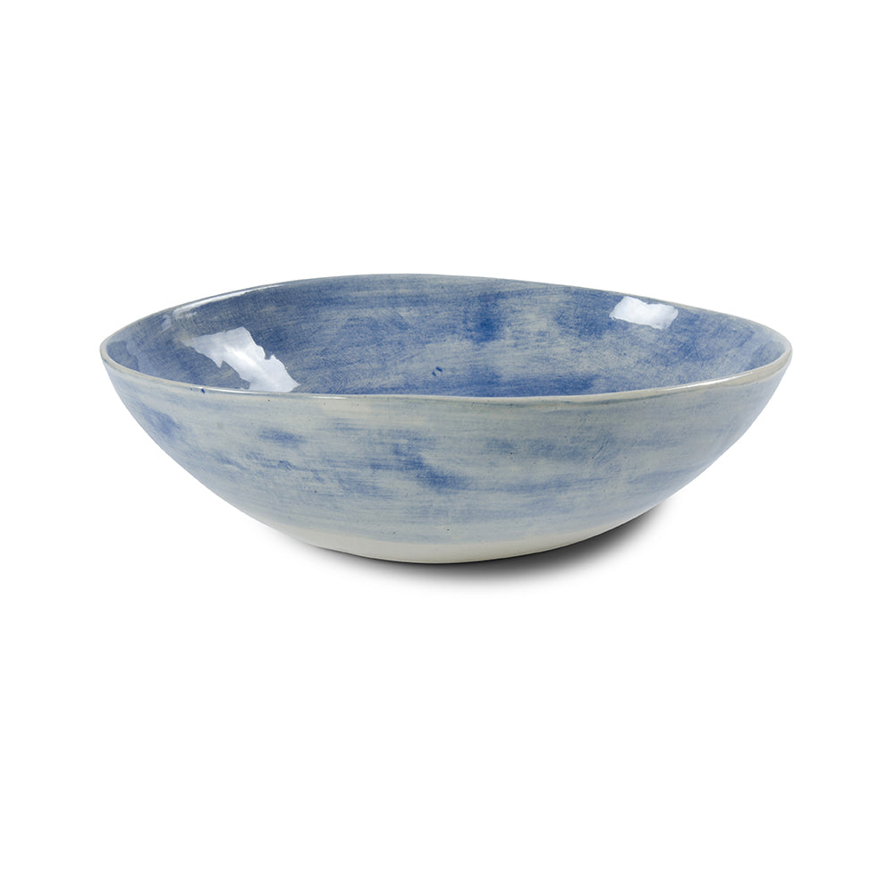 Pebble Salad Blue Wash, Bowls - Wonki Ware Australia