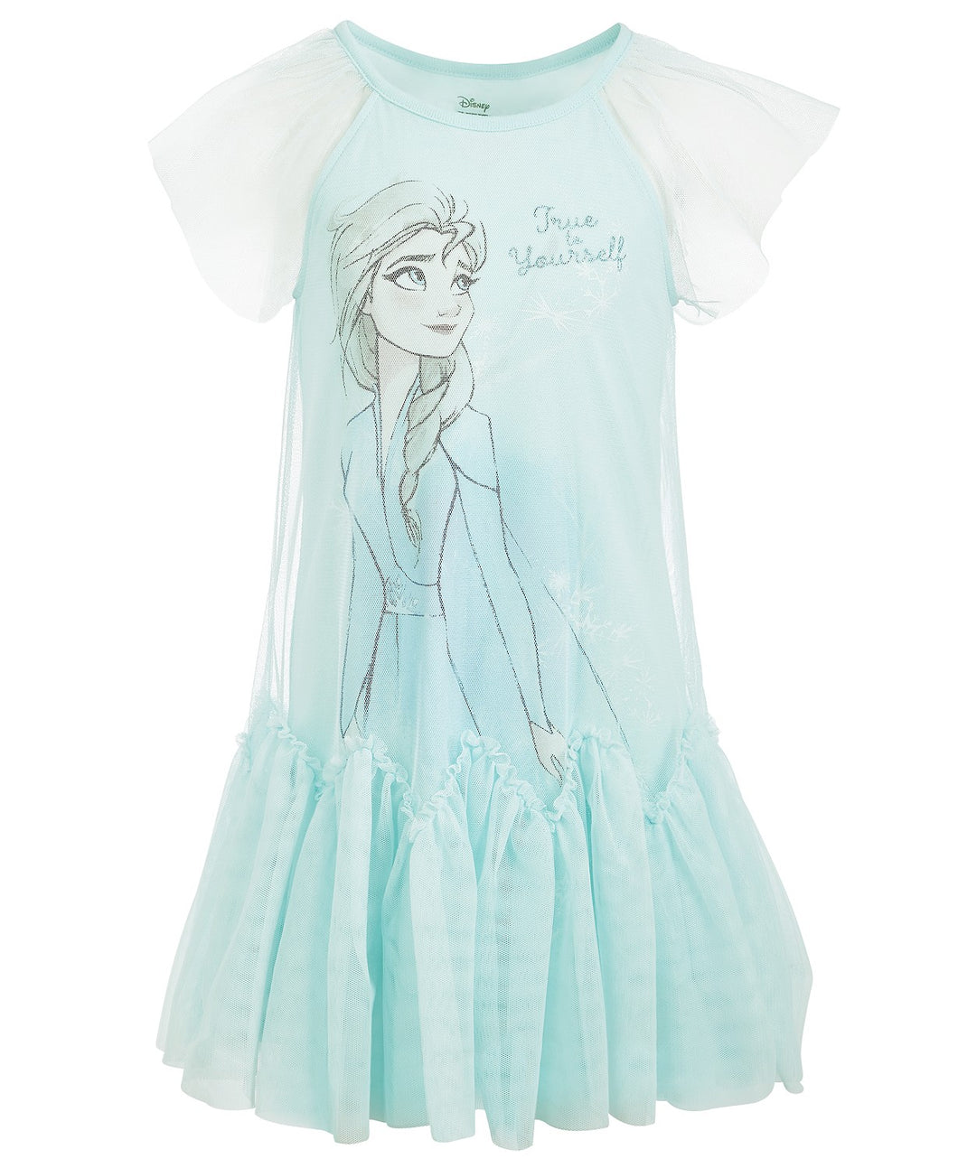 FRA012 Frozen Little Girls Frozen True To Yourself Elsa Dress