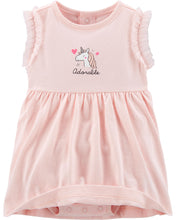 CAGL224 Carters 2-Piece Unicorn Bodysuit Dress & Cardigan Set