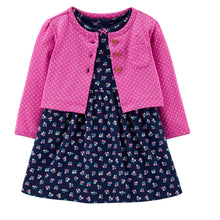 CAGL239 Carter's Baby Girl Floral Dress & Cardigan Set