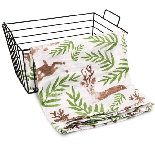 CH016 Infant Muslin Swaddle - Forest Deers