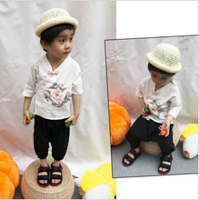 TZ024 New Toddler Boys Top and Harem Pants CNY Tangzhuang Traditional Shirt