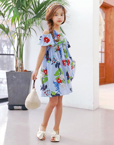 MME3461 Floral Off Shoulder Dress (Mum's Size Avail)