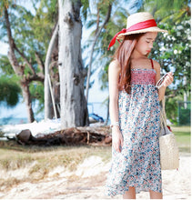 MME3470 Girls Floral Printed Smocked Long Dress (Moms Size Avail)
