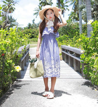 MME3952 Stripe Dress with Embroidery Summer Dress (Mom's Size Avail)