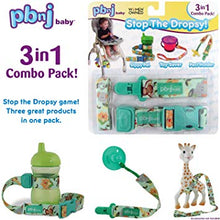PBCombo New PBNJ Sippy Pal Toy Saver Paci Holder Set