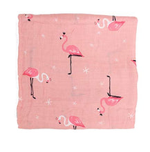 CH011 Infant Muslin Swaddle - Pink Flamingoes