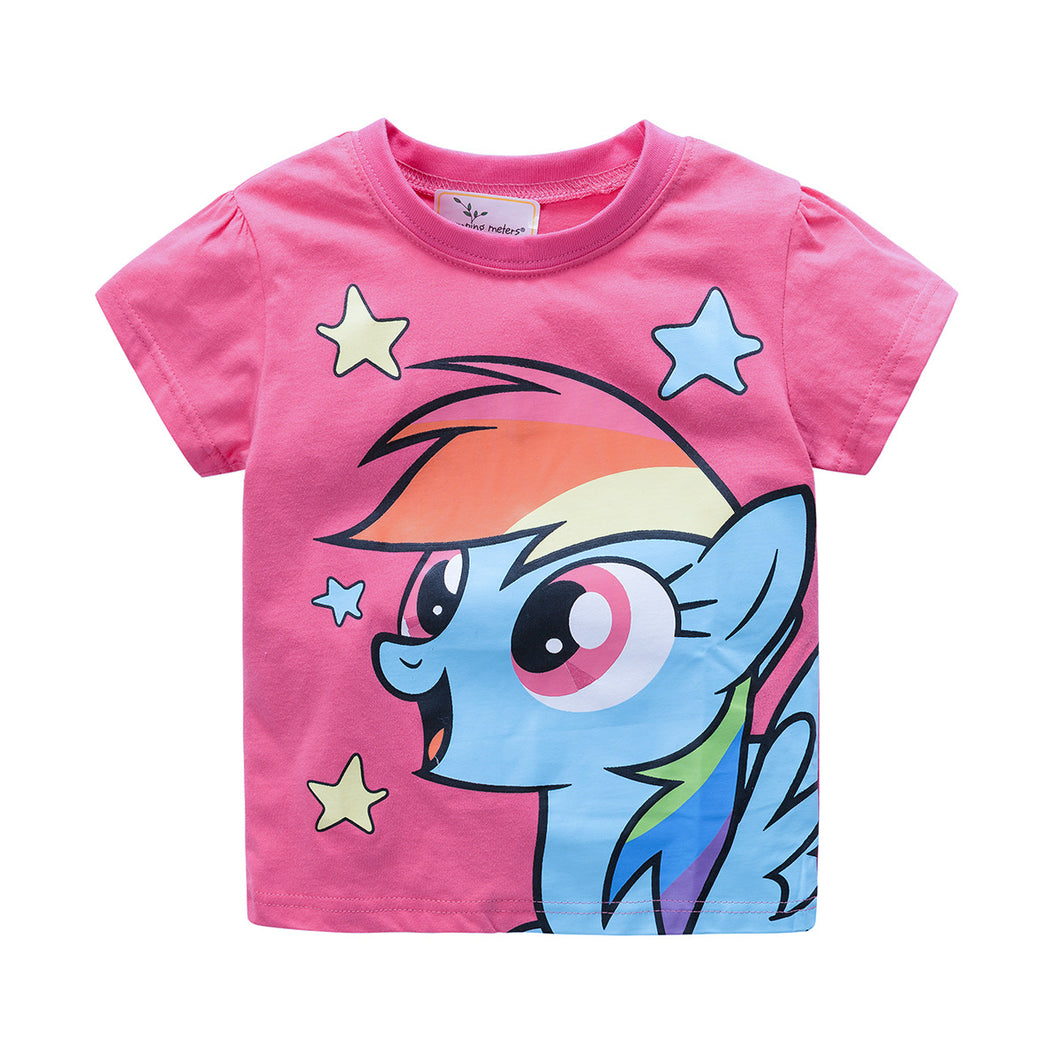 JB025 Toddler Girls Pink Little pony Tee T-shirt Top
