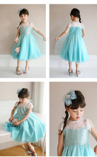 FRA007 New Frozen Elsa Blue Dress with Cape