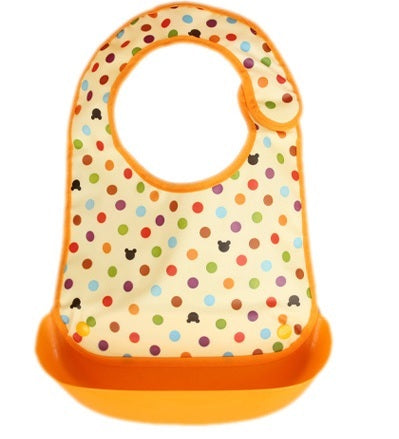 BB046 Baby Waterproof Drool Bibs With Removable Food Catcher Pocket
